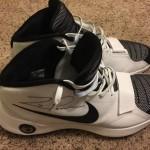 Dallas Mavericks Zaza Pachulia Autographed Game Used Basketball Shoes